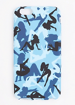 Blue Camo Lady Phone Case for iPhone 6 Plus