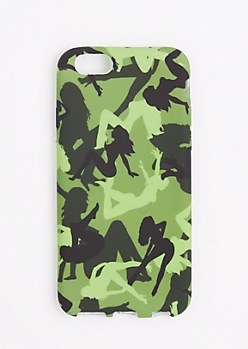 Green Camo Lady Phone Case for iPhone 6S/6