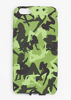 Green Camo Lady Phone Case for iPhone 6 Plus