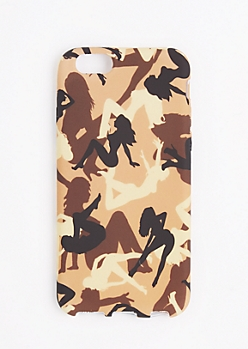 Brown Camo Lady Phone Case for iPhone 6S/6