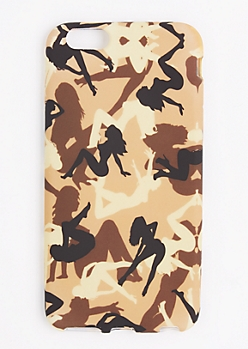 Tan Camo Lady Phone Case for iPhone 6 Plus