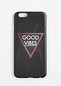 Black Good Vibes Triangle Case For iPhone 6S/6