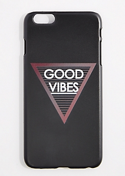 Black Good Vibes Triangle Case For iPhone 6S+/6+