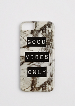 Marbled Good Vibes Only Case for iPhone 6/6S/7