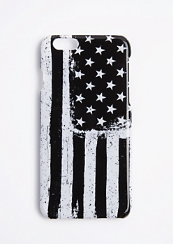 Black & White American Flag Case For iPhone 6S/6