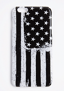 Black & White American Flag Case For iPhone 6S+/6+