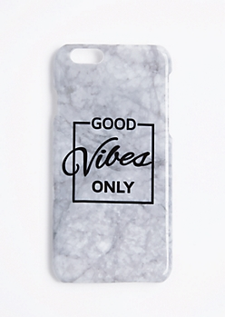 Marble Good Vibes Only Case For iPhone 6S/6