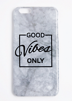 Marble Good Vibes Only Case For iPhone 6S+/6+