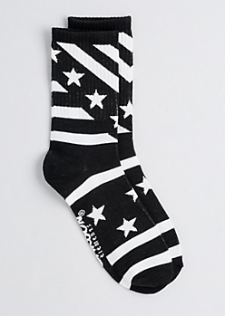 Blocked Stars & Stripes Crew Socks