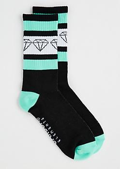 Athletic Striped Gem Crew Socks