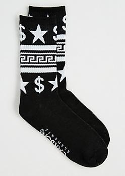 Greek Crew Socks