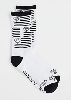 Striped Gems Crew Socks