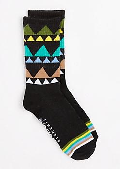 Geo & Striped Crew Socks