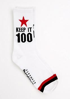 Keep It 100 Striped Crew Socks