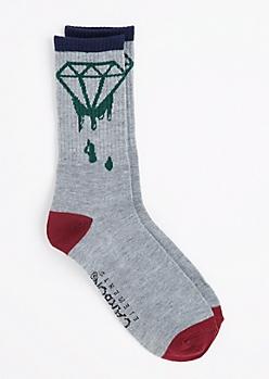 Dripping Gemstone Crew Socks