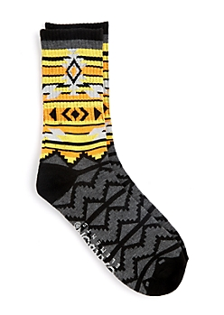 Orange & Yellow Tribal Stripes Crew Socks