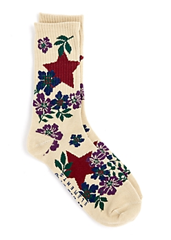 Hibiscus & Star Crew Socks