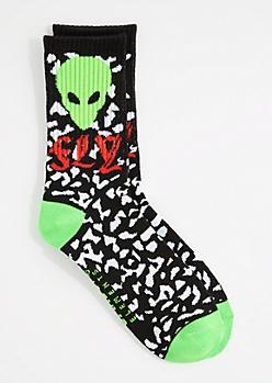 Fly Alien Crew Socks