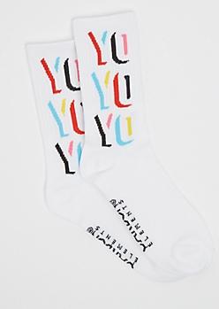 Yo Yo Yo Crew Socks