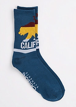Blue California Crew Socks