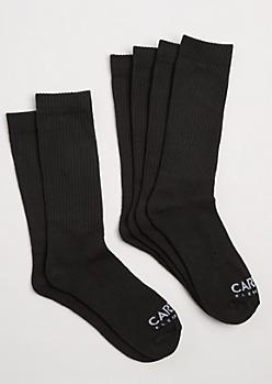 3-Pack White Crew Socks