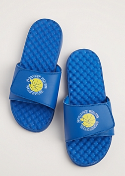 Golden State Warriors Textured Footbed Slide Sandal