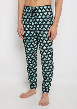 Green Gem Flannel Sleep Pant