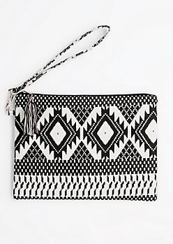 Black & White Southwest Clutch