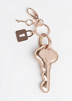 Metallic Key Handbag Charm