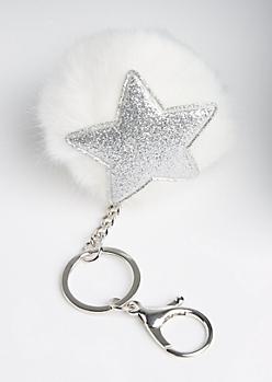Starfish Pom Handbag Charm