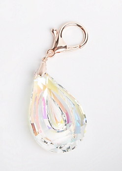 Teardrop Clip On Handbag Charm