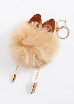 Taupe MFi Pom Handbag Charm