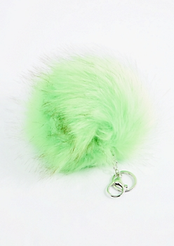 Lime Oversized Pom Handbag Charm