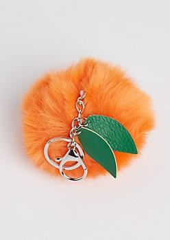 Orange Pom Handbag Charm