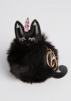 Caticorn Pom Handbag Charm