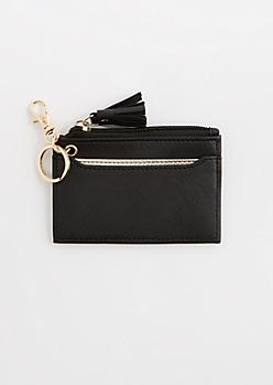 Black Tassel Key Chain Wallet