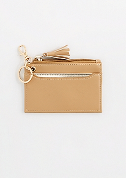 Brown Tassel Key Chain Wallet