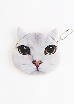 Curious Cat Change Purse