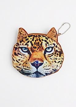 Leopard Face Change Purse