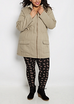 Plus Tan Sherpa Lined Anorak