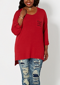 Plus Good Vibes High-Low Top