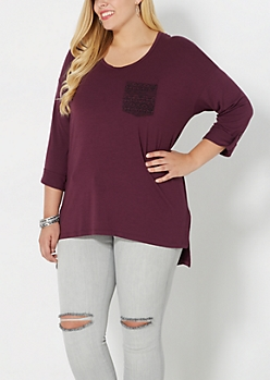 Plus Tribal Pocket High-Low Top