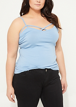 Plus Blue Cross Strap Cami