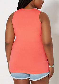 Plus Brushed Neon Orange Basic Tank