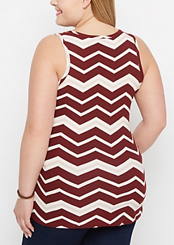 Plus Burgundy Pop Brushed Tank Top