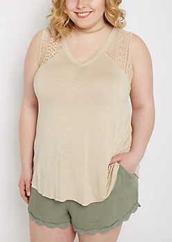 Plus Sand Crochet Inset Swing Tank