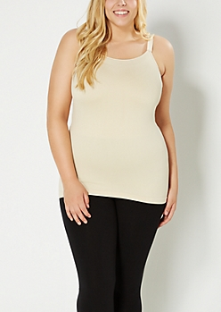 Plus Nude Wide Strapped Cami