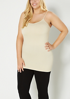 Plus Nude Solid Knit Cami