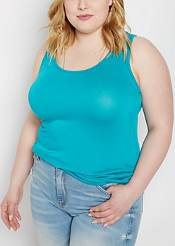 Plus Teal Favorite Tank Top