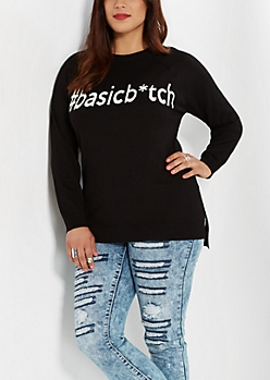 Plus #Basicb*tch Raglan Sweater